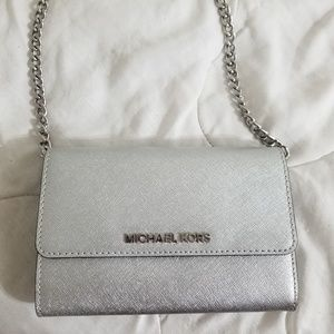 Silver Michael kors mini Crossbody
